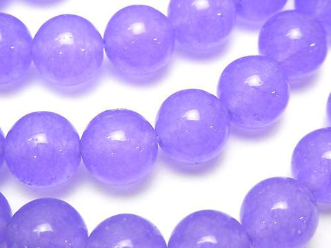 1strand $5.79! Purple Color Jade (Clear Type) Round 10mm 1strand (aprx.15inch / 37cm)