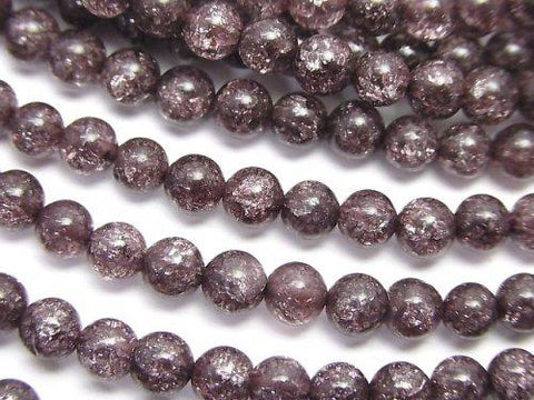 1strand $5.79! Dark brown color Cracked Crystal Round 4mm 1strand (aprx.15inch / 37cm)