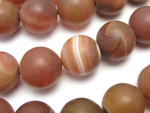 Frost Orange Stripe Agate Round 16 mm half or 1 strand (aprx.15 inch / 36 cm)