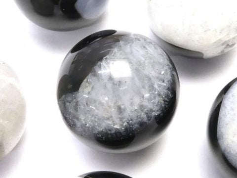 1pc $6.79! Agate x Quartz Round 25mm (Undrilled) 1pc