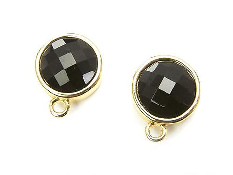 1 pair $7.79! Earstuds Earrings Copper 1pair with Coin Onyx