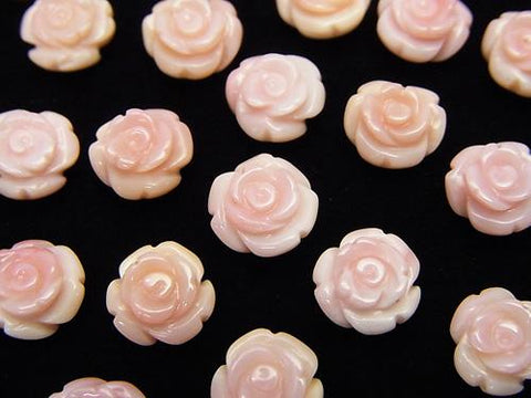 Queen Conch Shell AAA Rose 8 mm [Half Drilled Hole] 2pcs $4.79!