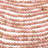 Diamond Cut!  1strand $7.79! Rhodonite AA++ Faceted Round 3mm  1strand (aprx.15inch/38cm)