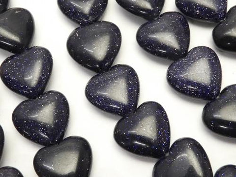 Blue Golden Sand Stone AAA Heart 12 x 12 x 5 mm half or 1 strand (apr x 14 inch / 34 cm)