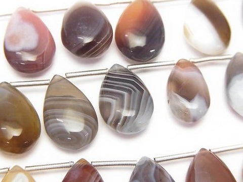 1strand $12.99! Botswana Agate  Pear shape (Smooth) 14-15mm 1strand (10pcs )