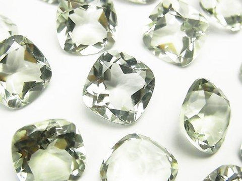 High Quality Green Amethyst AAA Undrilled Square Faceted 12 x 12 x 6 mm 3 pcs $9.79!