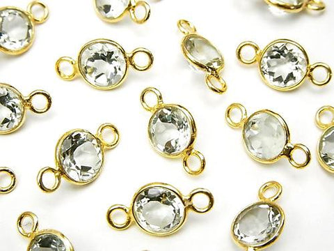 High Quality Green Amethyst AAA Bezel Set Coin Faceted 8 mm [Both Side] 18 KGP 5 pcs $9.79!