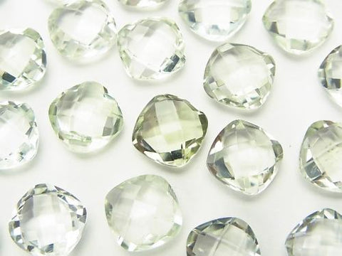 High Quality Green Amethyst AAA Undrilled Square Cushion Cut 9 x 9 x 5 mm 4 pcs $7.79!