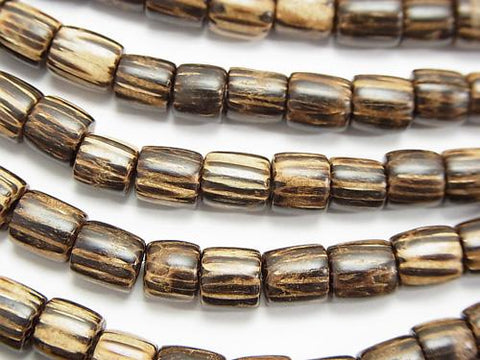 1strand $4.79! Palm wood (palm tree) Tube 6 x 6 x 6 mm [dark color] 1 strand (aprx.15 inch / 38 cm)