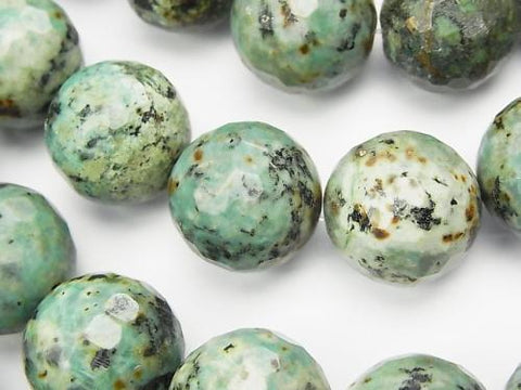 African Turquoise  128Faceted Round 20mm half or 1strand (aprx.15inch/36cm)