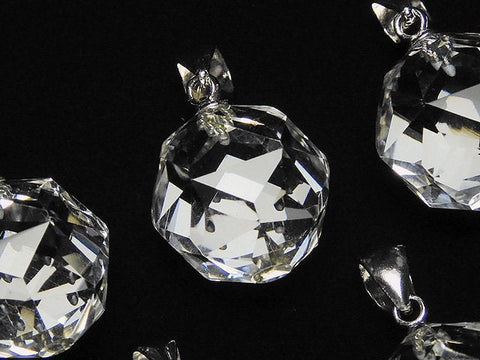 Diamond Cut! Crystal AAA Star Faceted Round 14 mm Pendant 1 pc