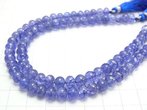 High Quality Tanzanite AAAA Roundel [M size] 1/4 or 1strand (aprx.7 inch / 19 cm)