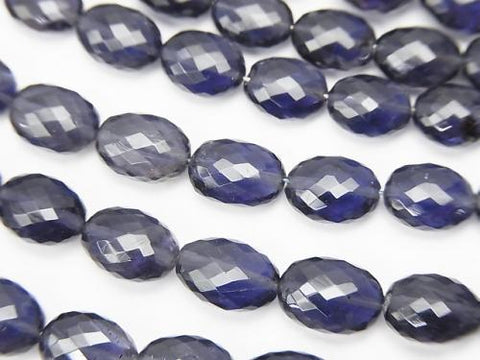 MicroCut!  High Quality Iolite AAA+ Faceted Oval  1strand (aprx.4inch/9cm)