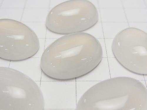 White Chalcedony AAA Oval Cabochon 20 x 15 mm 5pcs $5.79!
