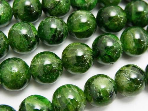 Russian Chrome Diopside AA ++ Round 10 mm 1/4 or 1strand (aprx.15 inch / 37 cm)