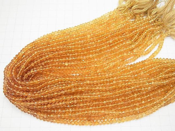 [Video] High Quality Imperial Topaz AAA Faceted Button Roundel half or 1strand (aprx.13inch / 33cm)