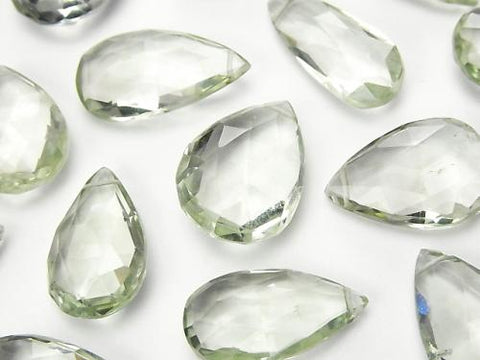 High Quality Green Amethyst AAA - Pear shape Faceted Briolette 5pcs -