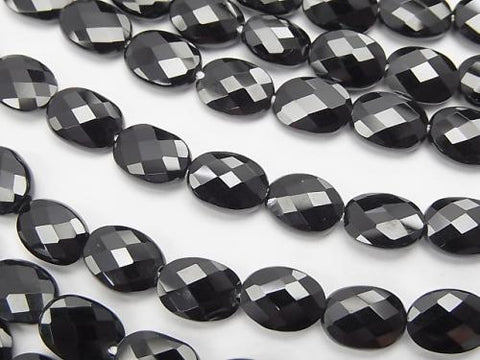 High Quality Black Spinel AAA Faceted Oval 8 x 6 x 3 mm 1/4 or 1strand (aprx.15 inch / 38 cm)