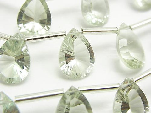 High Quality Green Amethyst AAA Pear shape Concave Cut 14 x 10 mm half or 1 strand (10 pcs)