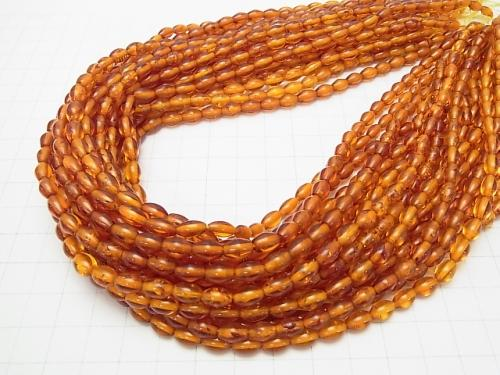 Baltic Amber Rice 7 x 5 x 5 mm 1/4 or 1strand (aprx.15 inch / 38 cm)