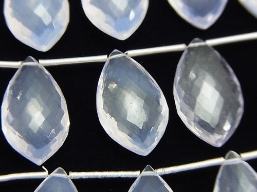 MicroCut!  High Quality Scorolite AAA- Marquise  Faceted Briolette  1strand (5pcs )