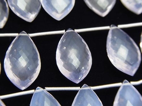 MicroCut!  High Quality Scorolite AAA Marquise  Faceted Briolette  1strand (5pcs )