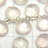 Jewel Room Rose Quartz AAA Chestnut Faceted Briolette 8 x 8 x 4 mm half or 1 strand (apr x 6 inch / 15 cm)