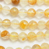 1strand $9.79! Yellow Hematite Quartz 128 Faceted Round 6 mm 1 strand (aprx.15 inch / 38 cm)