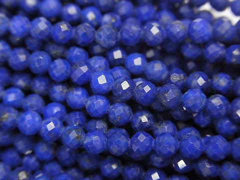 1strand $9.79! High Quality!  Lapislazuli AA++ Faceted Round 3mm  1strand (aprx.15inch/38cm)