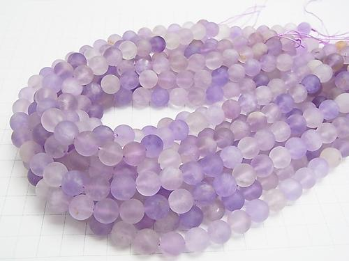 Frost light color Amethyst x Citrine AA Round 10 mm half or 1 strand (aprx.15 inch / 36 cm)