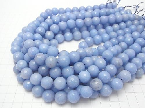 1strand $6.79! Pastel blue color Jade 128 Faceted Round 12 mm 1strand (aprx.15 inch / 37 cm)