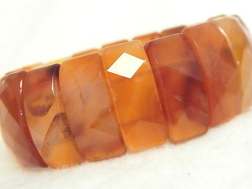 1strand $19.99! Carnelian AA ++ 2 holes Faceted Rectangle 25 x 11 x 8 mm 1 strand (Bracelet)