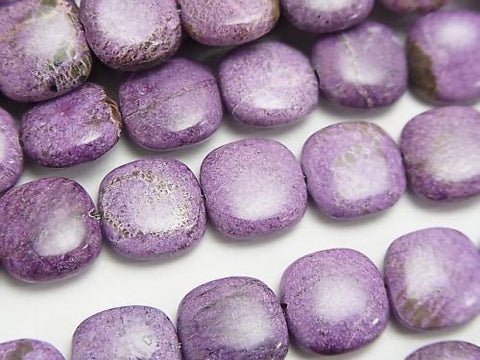 Purplite Stichtite AA+ Square 10x10x4mm half or 1strand (aprx.15inch/37cm)