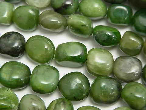 1strand $5.79! Russia Nephrite Jade AA Nugget [M size] 1strand (aprx.15inch / 38cm)