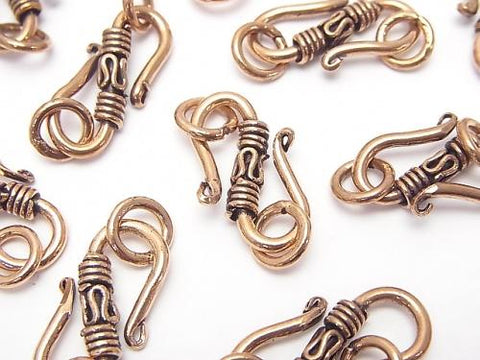 Copper Jump Designed with Ring S Hook 23 x 11 x 2 mm Oxidized Finish 4 pcs $3.19