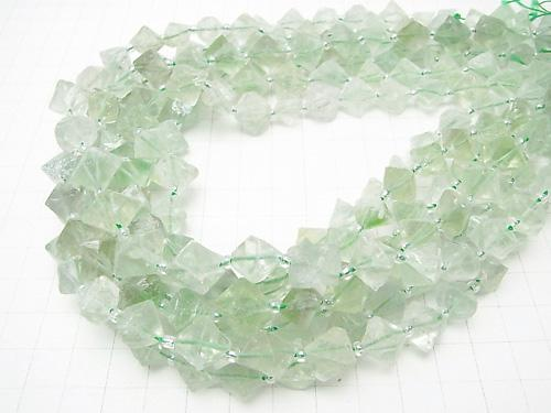 Green Fluorite 8Faceted body 1strand (aprx.15inch/36cm)