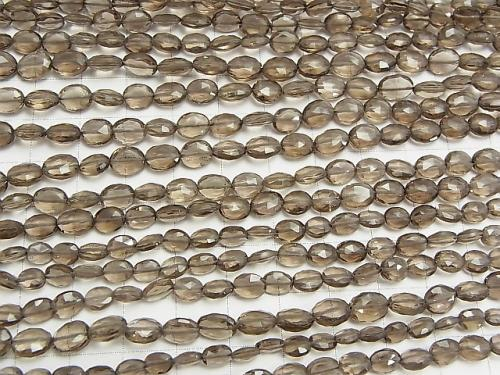 1strand $14.99! Smoky Crystal Quartz AA++ Faceted Oval  1strand (aprx.13inch/33cm)