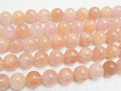 Morganite AAA Round 14mm 1/4 or 1strand (aprx.15inch/37cm)