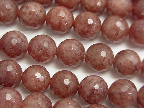 Moscovite  128Faceted Round 10mm half or 1strand (aprx.15inch/38cm)