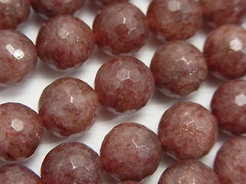 Moscovite  128Faceted Round 12mm half or 1strand (aprx.15inch/38cm)