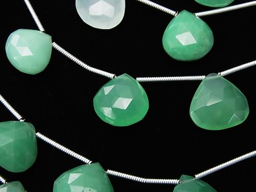 1strand $24.99! Chrysoprase AA++ Chestnut  Faceted Briolette  1strand (10pcs )
