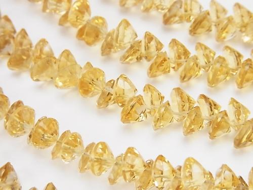 High Quality Citrine AAA Brilliant Cut 6x6x4mm 1/4 or 1strand (aprx.10inch/25cm)