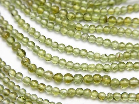 1strand $24.99! High Quality Green Tourmaline AAA Round 2mm 1strand (aprx.14inch / 34cm)