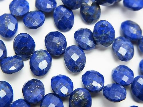 Lapislazuli AAA- Faceted Oval 8x6x4mm half or 1strand (aprx.7inch/17cm)