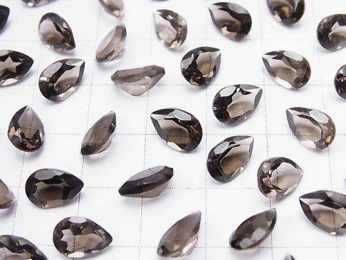 High Quality Smoky Crystal Quartz AAA Undrilled Pear shape Faceted 9x6mm 10pcs $8.79!