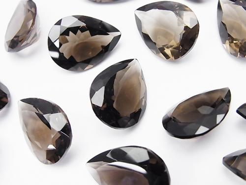 High Quality Smoky Crystal Quartz AAA Undrilled Pear shape Faceted 20x15mm 3pcs $19.99!