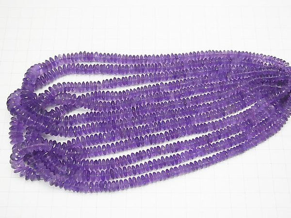 High Quality Amethyst AAA- Faceted Button Roundel  half or 1strand (aprx.15inch/38cm)