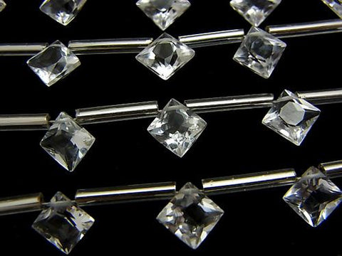 1strand $12.99! High Quality Crystal AAA Diamond Princess Cut 8x8mm 1strand (10pcs)