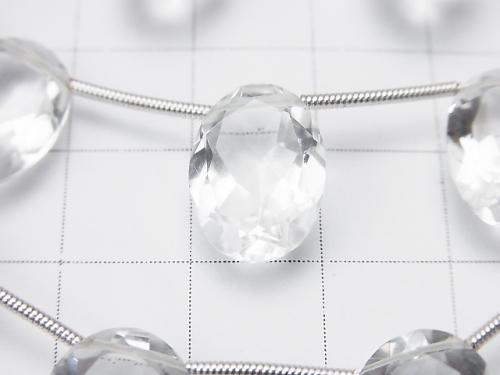 High Quality Crystal AAA Oval Faceted 14 x 10 x 6 mm half or 1 strand (10 pcs)