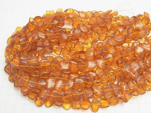 Baltic Amber Flat Nugget 1/4 or 1strand (aprx.15 inch / 38 cm)